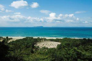 銭形砂絵と有明浜