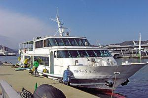 軍艦島へのクルーズ船