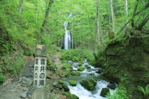 奥入瀬渓流の雲井の滝