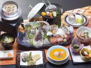 かんぽの宿 勝浦の夕食