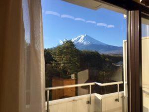 ホテルレジーナ河口湖からの富士山の眺め