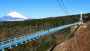 三島スカイウォークから富士山を望む