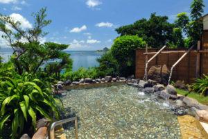 指宿ロイヤルホテルの露天風呂