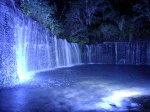 夜の白糸の滝3