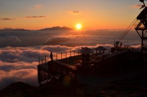 SORA terrace(ソラテラス)からの夕日