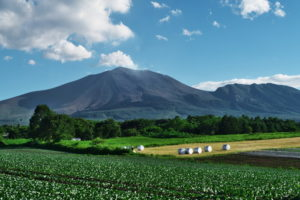 浅間山が間近に見える北軽井沢