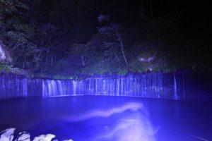 夜の白糸の滝2