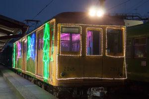 銚子電鉄 冬のイルミネーション電車1