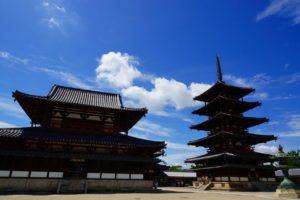 奈良法隆寺の五重塔