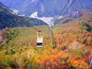 黒岳ロープウェイからの紅葉