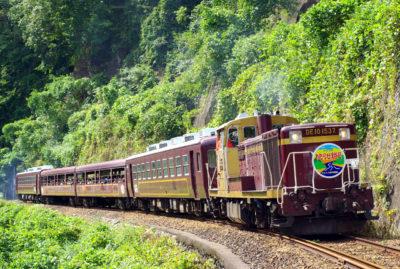 渓谷鐵道のトロッコ列車