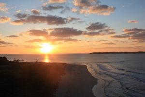 角島の夕日