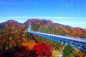 紅葉時の竜神大吊橋