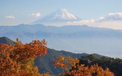 昇仙峡山頂からの富士山