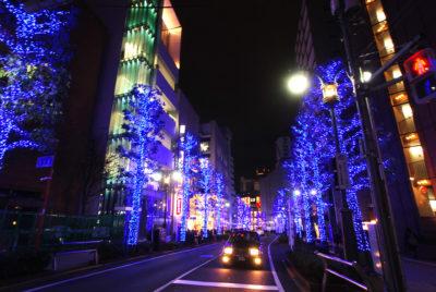 渋谷公園通りイルミネーション「青の洞窟」2