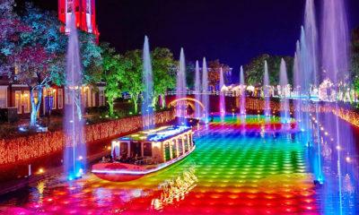 ハウステンボス 光と噴水の運河