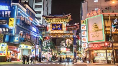 夜の横浜中華街1