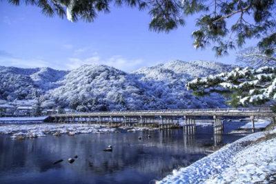 雪化粧 嵐山