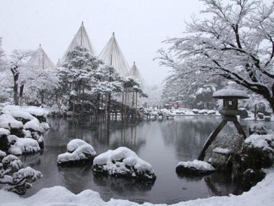 金沢兼六園 雪景色