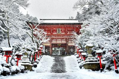 雪景色の京都