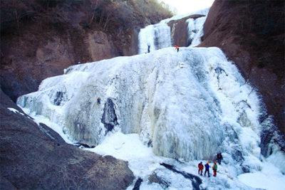 袋田の滝 真冬
