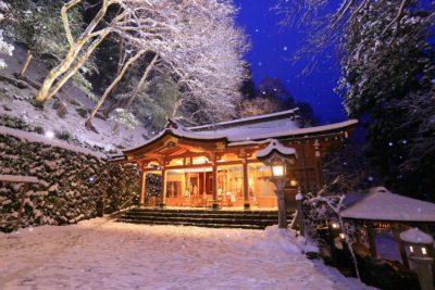 積雪日限定ライトアップ 貴船神社