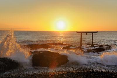 大洗海岸 初日の出