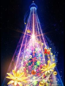 東京スカイツリーのクリスマスツリー2