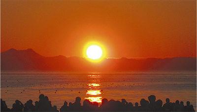 三浦海岸からの初日の出