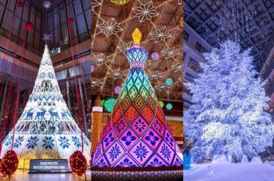 カレッタ汐留のクリスマスツリー