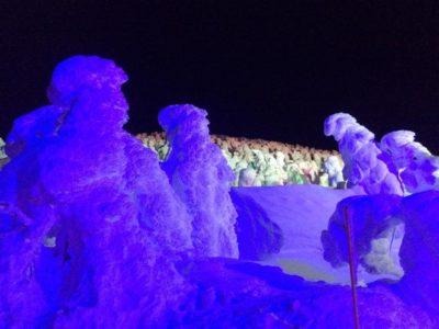 蔵王温泉スキー場 樹氷 ライトアップ