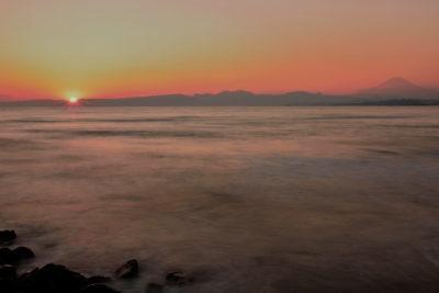 江ノ島大橋からの夕日