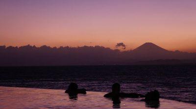 江の島アイランドスパからのサンセット
