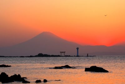 森戸神社からの夕焼け