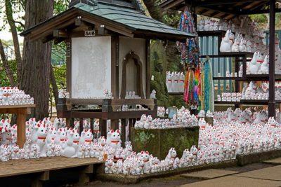 豪徳寺招き猫がいっぱい!