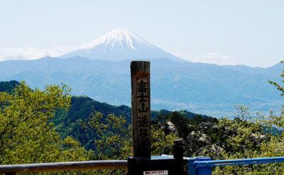 昇仙峡から富士山を望む